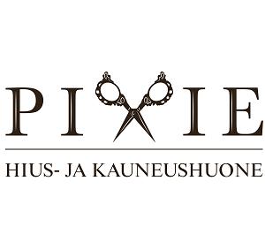 Hius- ja kauneushuone Pixie musta logo